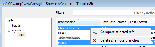 How to compare (Diff) branches in Tortoise Git - wikgren fi